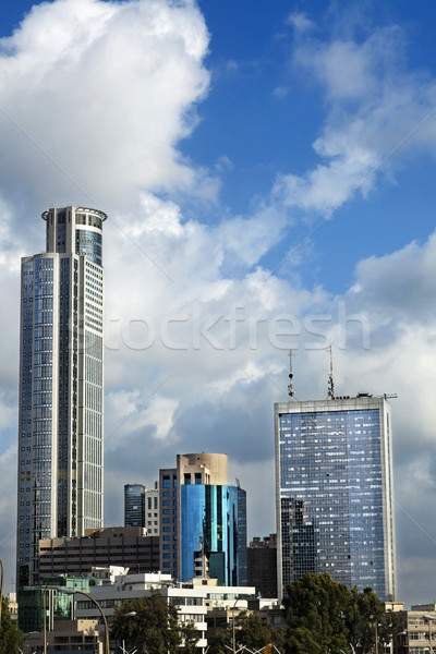 Stock photo: Skyscrapers Cluster