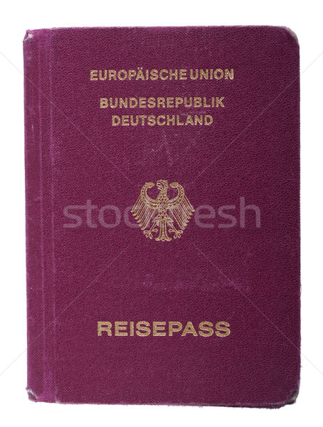Isolated Worn Out German Passport Stock photo © eldadcarin
