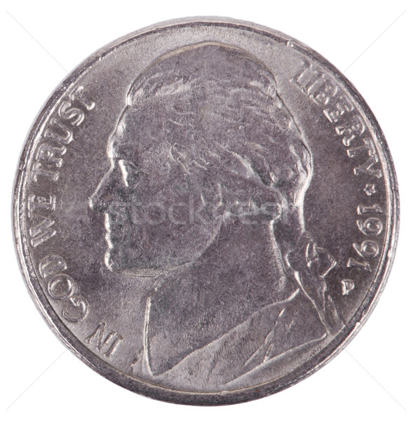 Isolated Nickel - Heads Frontal Stock photo © eldadcarin