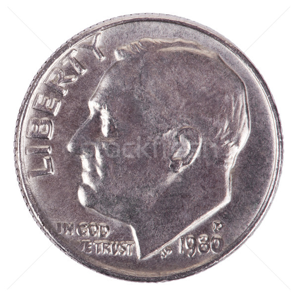 Isolated Dime - Heads Frontal Stock photo © eldadcarin