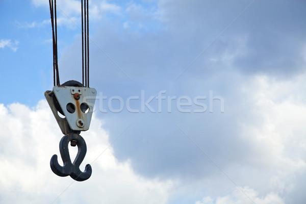 Vintage Harbour Crane Hook Stock photo © eldadcarin
