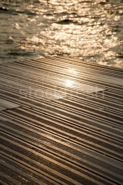 Wet Wooden Deck & Sea Stock photo © eldadcarin