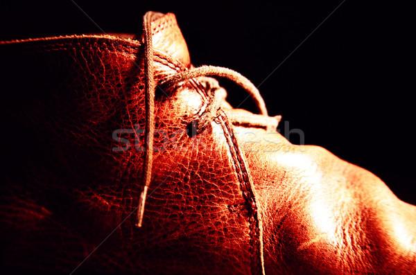 Leather Shoe Detail Stock photo © eldadcarin