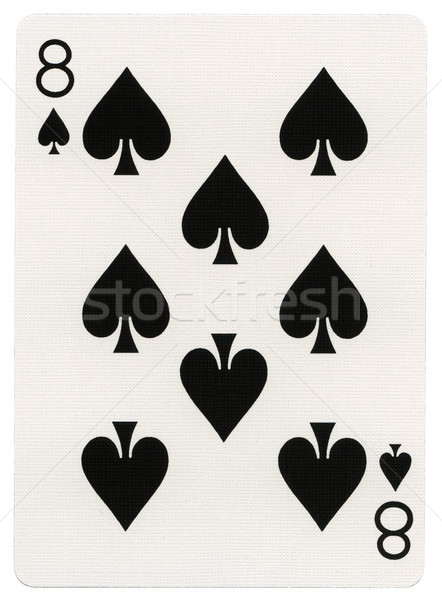 Stock photo: Playing Card - Eight of Spades
