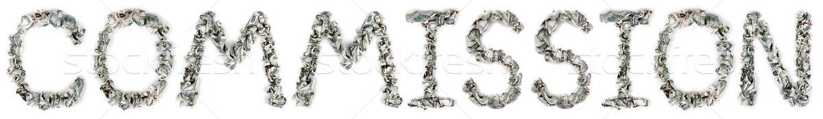 Commission - Crimped 100$ Bills Stock photo © eldadcarin