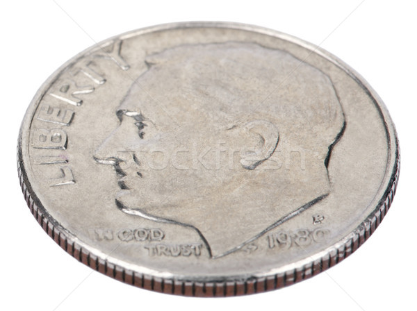 Isolated Dime - Heads High Angle Stock photo © eldadcarin