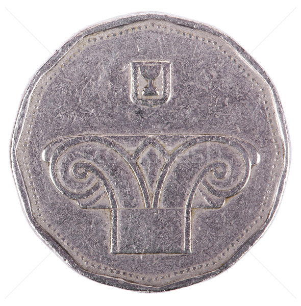 Isolated 5 Shekels - Heads Frontal Stock photo © eldadcarin