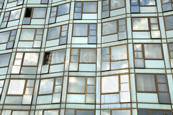 öğleden sonra pencereler otel duvar dışarı Stok fotoğraf © eldadcarin