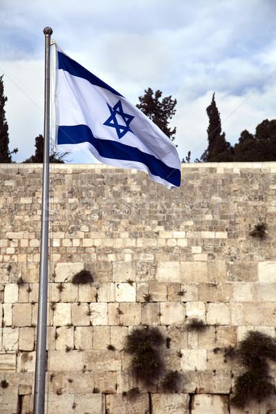 Israel Flag & The Wailing Wall Stock photo © eldadcarin