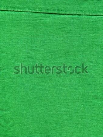 Cotton Fabric Texture - Bright Green with Seams Stock photo © eldadcarin