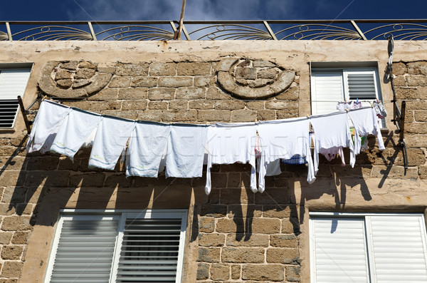 White Laundry Drying on the Clothline Stock photo © eldadcarin