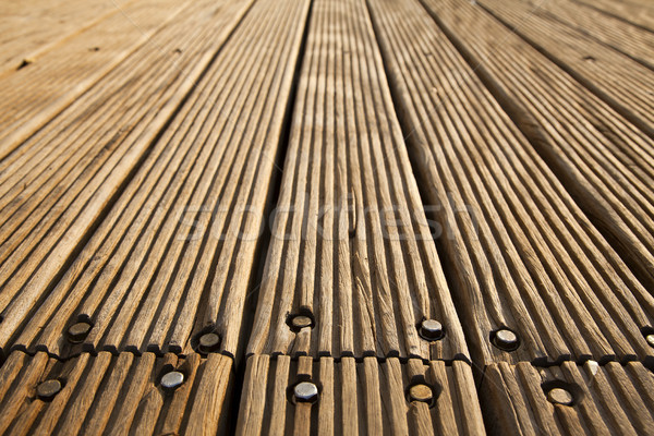 Bolted Wooden Deck Stock photo © eldadcarin