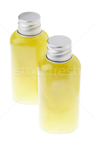 Isolated Green Gel Bottles - High angle Stock photo © eldadcarin