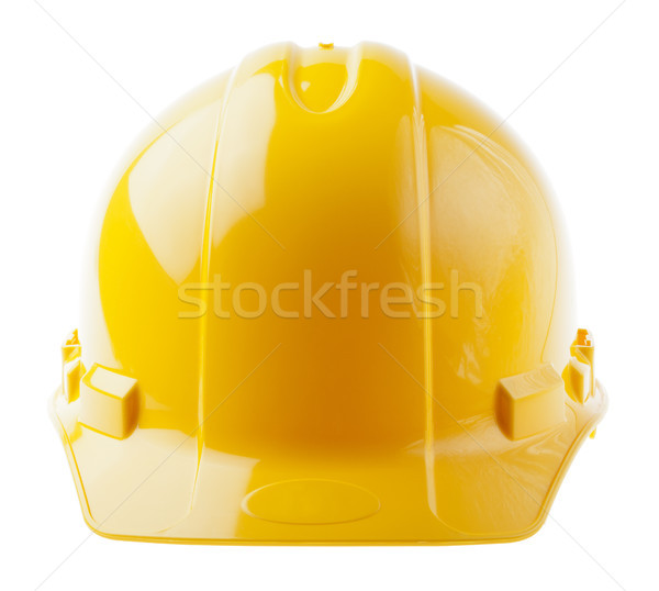 Isolated Hard Hat - Frontal Yellow Stock photo © eldadcarin