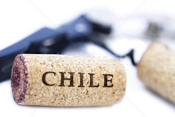 Isolated 'Chile' Corks & Bottle Opener Stock photo © eldadcarin