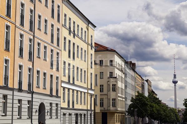 テレビ 塔 テレビ塔 表示 ブロック 建物 ストックフォト © eldadcarin