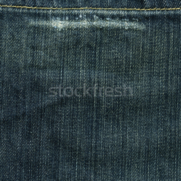 Denim Fabric Texture - Worn Imperial Blue XXXXL Stock photo © eldadcarin