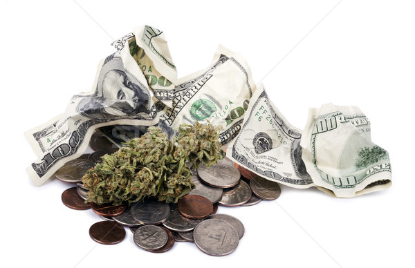 Stock photo: Marijuana, Change & Cash