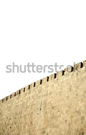 Velho Jerusalém cidade parede azul pedra Foto stock © eldadcarin