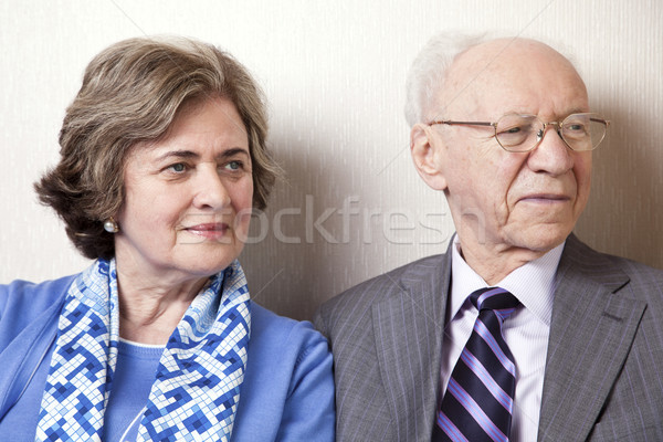 Elderly Couple Looking Away - Close Up Stock photo © eldadcarin