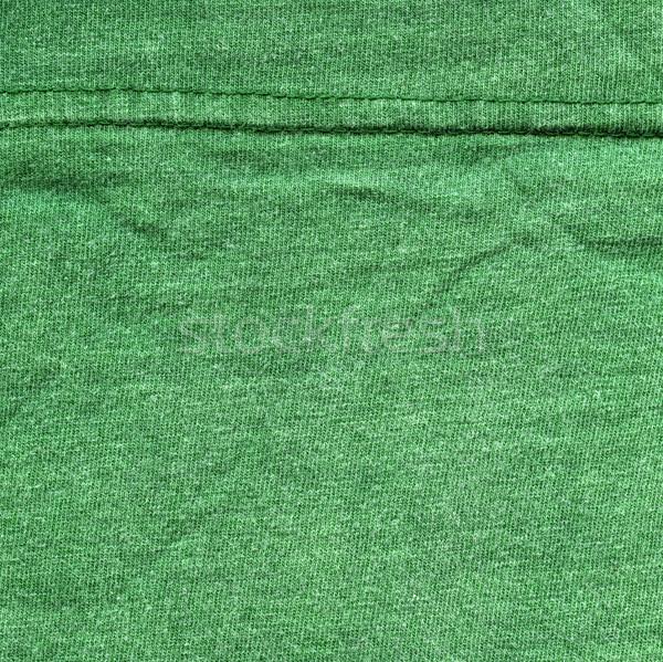 Bawełny tkaniny tekstury zielone wysoki Zdjęcia stock © eldadcarin