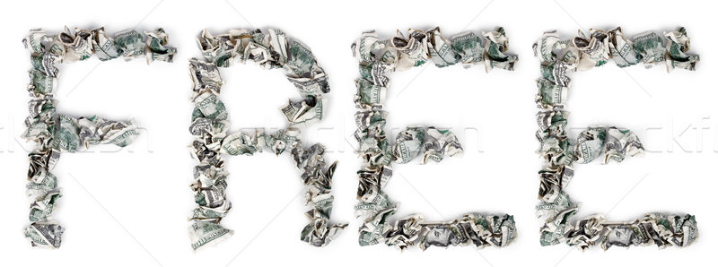 Free - Crimped 100$ Bills Stock photo © eldadcarin