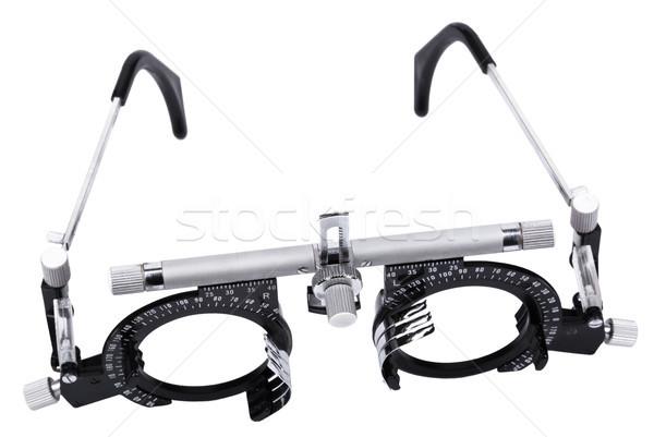 孤立した 視力 テスト 眼鏡 中古 白 ストックフォト © eldadcarin