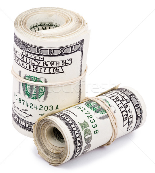 Two 100 US$ Rolls Stock photo © eldadcarin