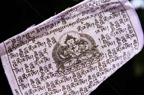 Ceremonieel banner buddha tekening kunst Stockfoto © eldadcarin