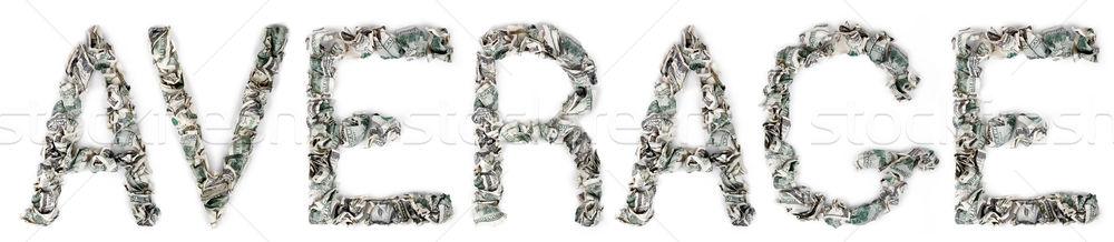 Gemiddelde 100 woord uit geïsoleerd Stockfoto © eldadcarin