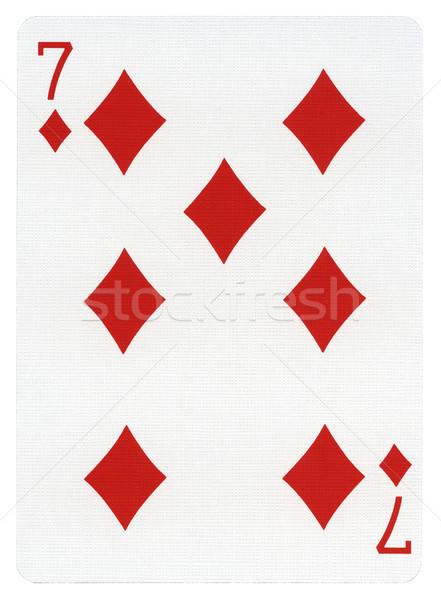Playing Card - Seven of Diamonds Stock photo © eldadcarin