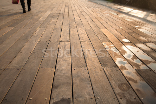 Wet Sunny Boardwalk Pedestrian Stock photo © eldadcarin