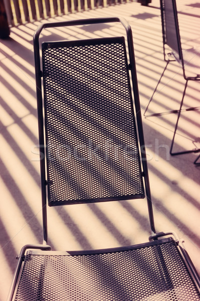 Stockfoto: Metaal · stoel · zonlicht · expressief