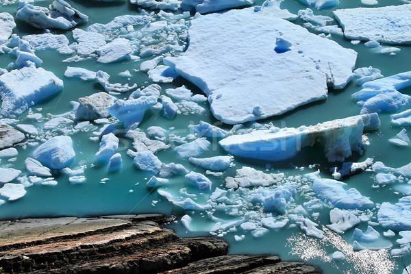 ледник воды поверхности воды озеро Южной Америке Сток-фото © eldadcarin