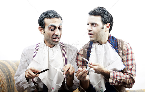 Wannabe Seniors Discussing a Meal Stock photo © eldadcarin