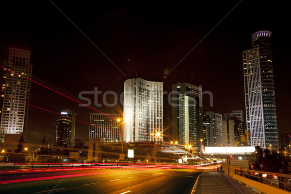 Downtown District Entrance at Night Stock photo © eldadcarin