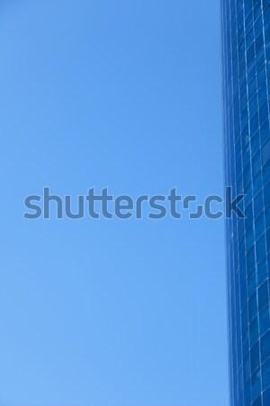Céu cortina parede edifícios de escritórios blue sky abstrato Foto stock © eldadcarin