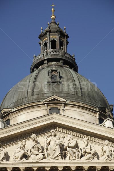 Kubbe bazilika Budapeşte Macaristan gökyüzü Stok fotoğraf © eldadcarin