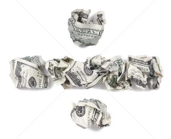 Division Sign - Crimped 100$ Bills Stock photo © eldadcarin