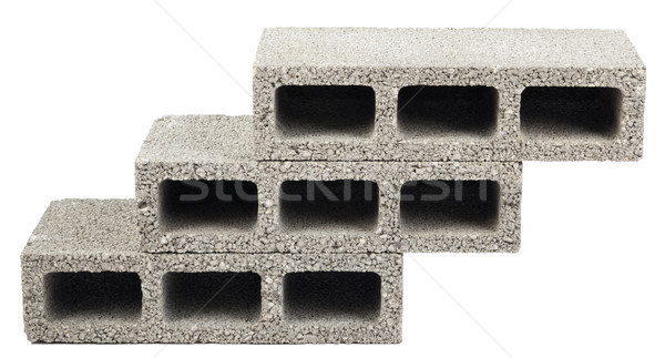 Isolated Construction Blocks - Three Stock photo © eldadcarin