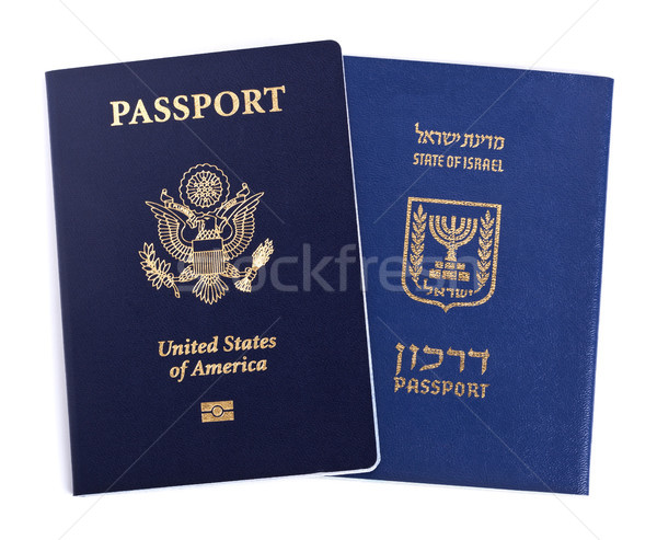 Double Nationality - American & Israeli Stock photo © eldadcarin