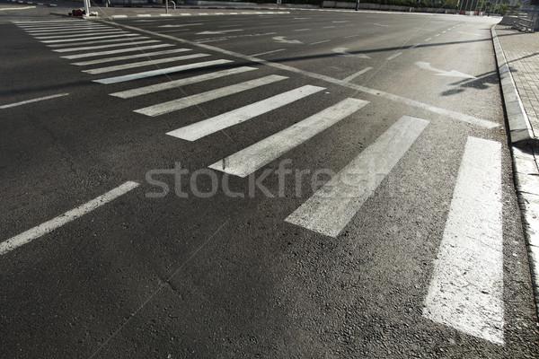Vacant Main Street Crosswalk Stock photo © eldadcarin