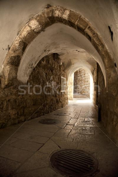 Old Jerusalem Tunnel Stock photo © eldadcarin