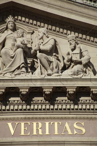 Veritas - St. Stephen Basilica, Budapest, Hungary Stock photo © eldadcarin