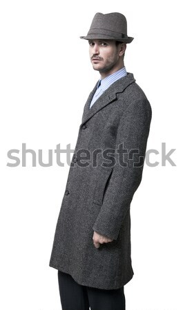 Interno tasca persona grigio Hat grave Foto d'archivio © eldadcarin