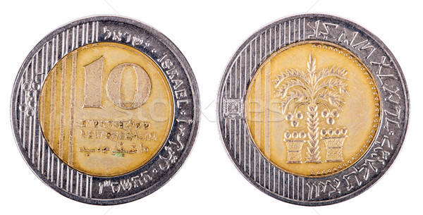 Isolated 10 Shekels - Both Sides Frontal Stock photo © eldadcarin