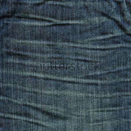 Stock photo: Denim Fabric Texture - Imperial Blue with Crease Marks XXXXL