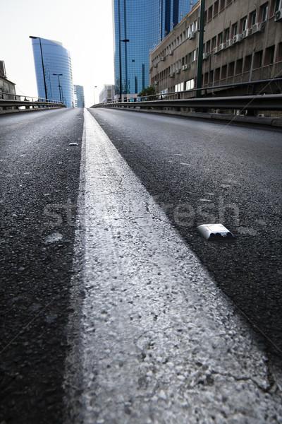 Vacant stedelijke brug breed Stockfoto © eldadcarin