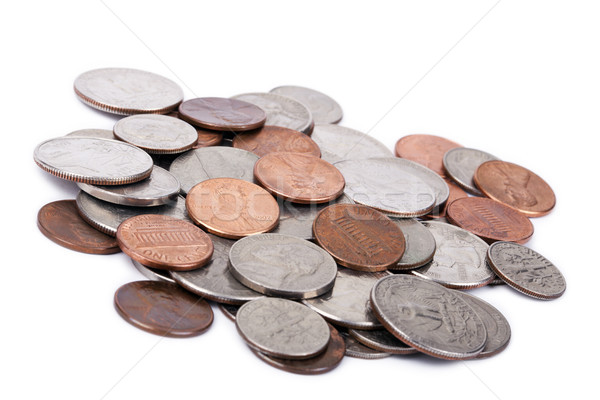 Isolated US Coins Pile Stock photo © eldadcarin