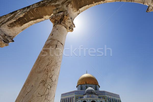 Kupola kő öreg város Jeruzsálem egy Stock fotó © eldadcarin